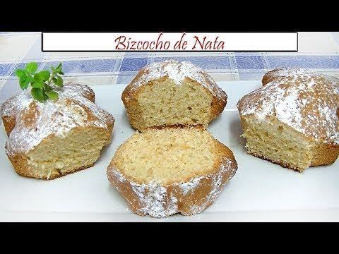 Bizcocho de Nata | Receta de Cocina en Familia - YouTube