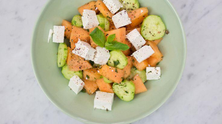 Insalata di Melone, Feta e Cetrioli