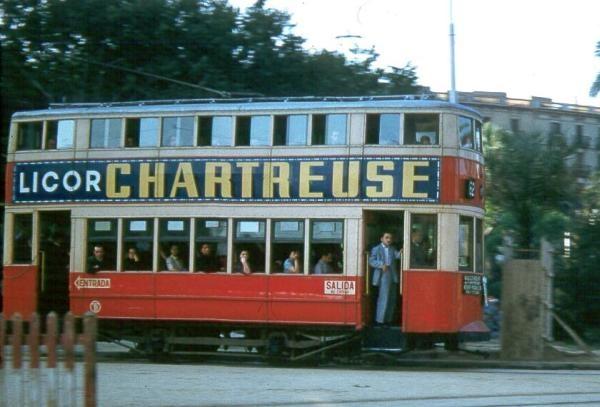 Tranvia 62 Barcelona 1956
