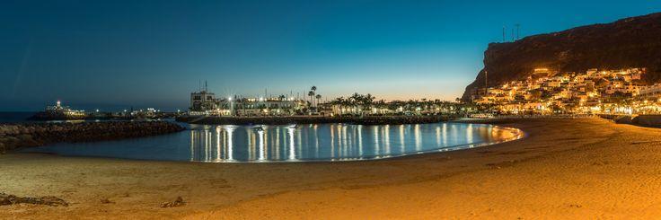 Playa de Mogán Panorama Sunset by Sigurd Rage on 500px
