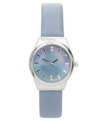 Blue Metallic Dial Watch - New Look
