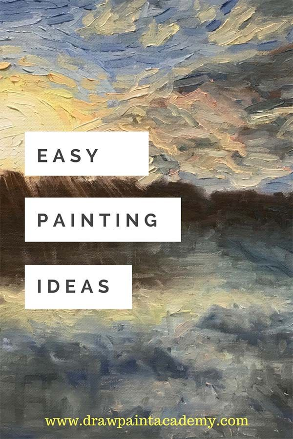 Stuck for painting inspiration? Check out these simple and easy canvas painting ideas for beginners. These are classic subjects which are sure to give you some inspiration for your next painting.  via @drawpaintacadem