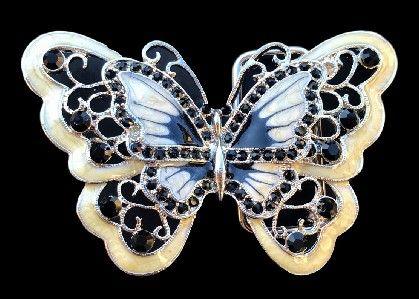 BEIGE RHINESTONE COOL GLITTER BUTTERFLY BUTTERFLIES BELT BUCKLE BELTS BUCKLES #butterfly #butterflies #glitter #rhinestones #butterflybuckle #buckle #beltbuckle