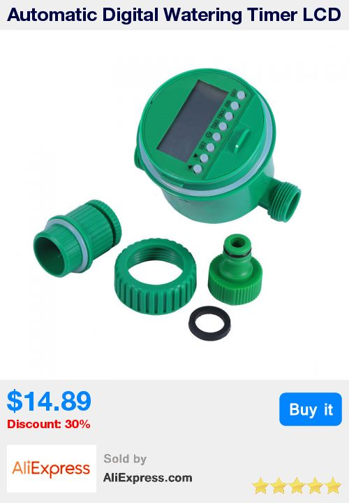 Automatic Digital Watering Timer LCD Electronic Irrigation Timer For Garden Irrigation Watering Controller Timer System Mayitr * Pub Date: 16:42 Oct 18 2017