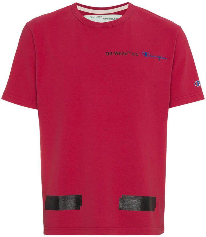 Off White X Champion Arrows T Shirt Vetements