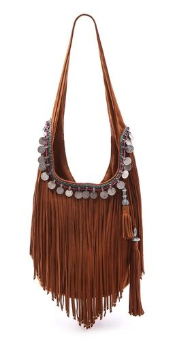 Simone Camille Fringe Bucket Bag | This boho bag is perfect for those who carry…