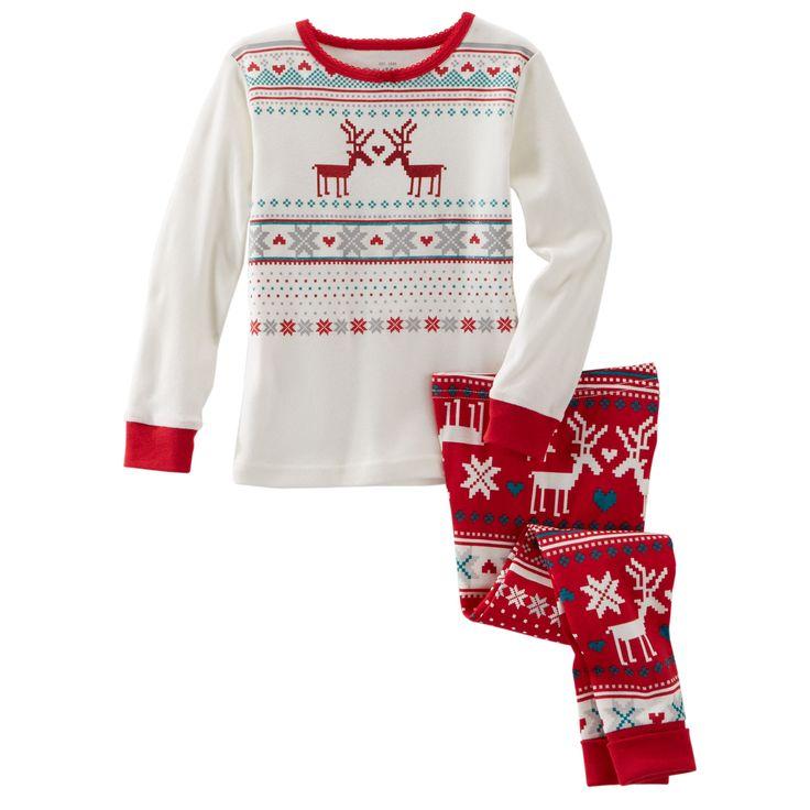 2-Piece Snug-Fit Cotton Holiday PJs | OshKosh B'gosh. Ev's Christmas Pajamas... These are so cute!!!