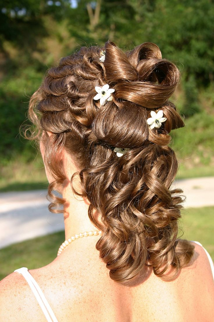 Wedding hairstyle half open – picture gallery