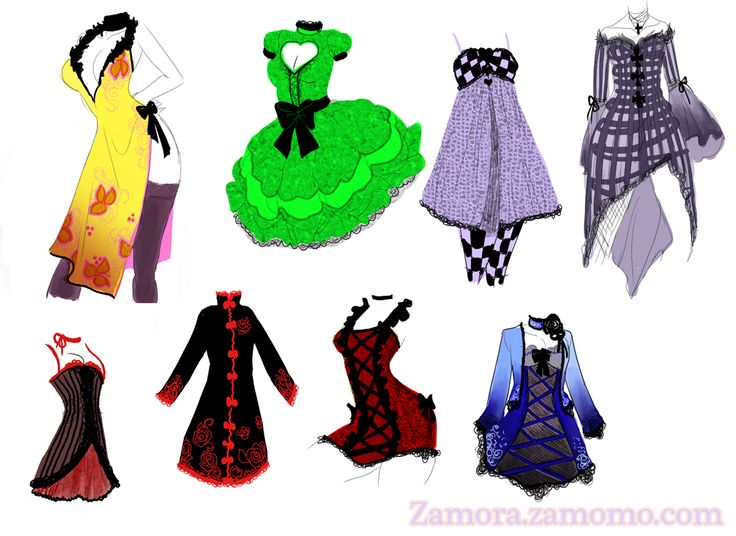 Design Girls Clothing Anime Girl Clothes Designs