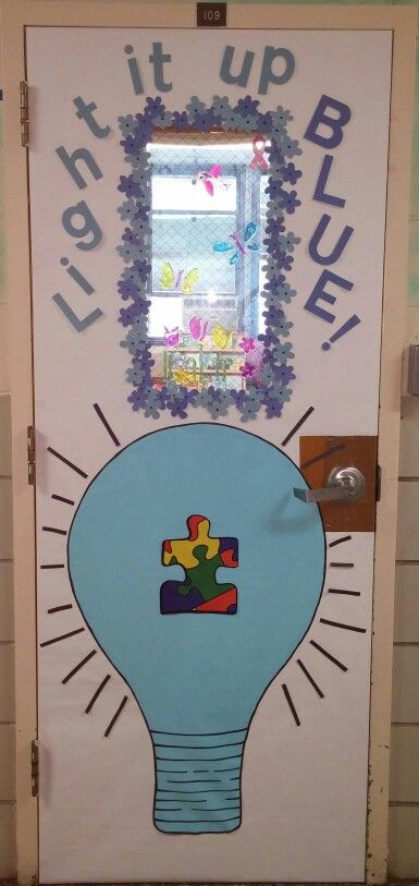 Autism Awareness Door