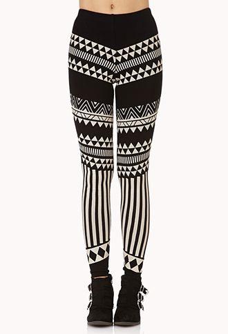 Abstract Tribal Print Leggings | FOREVER21 - 2000051395