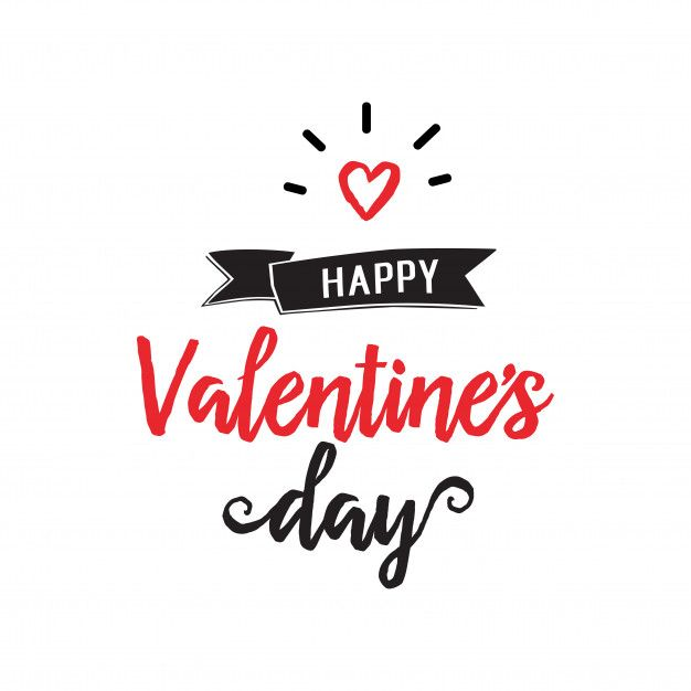 Download Happy Valentine Day Lettering And Heart For Free Happy Valentines Day Valentines Greetings Valentines Day Pictures
