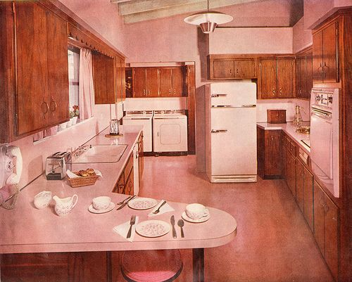 17 best images about retro kitchens on pinterest mid for 1950s kitchen floor
