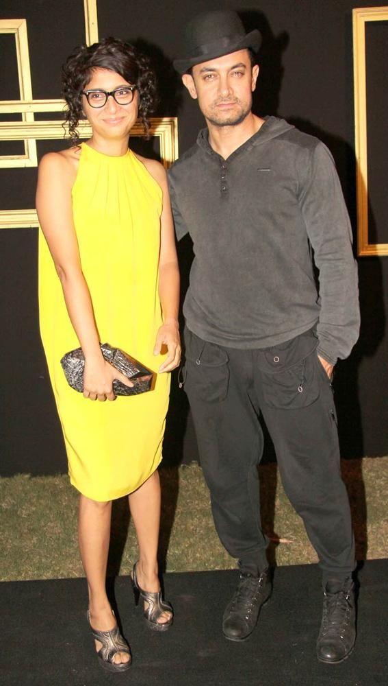 Aamir Khan with wife Kiran at Deepika Padukone's bash. #Fashion #Style #Bollywood #Beauty