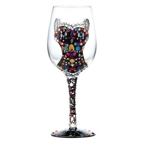 Lolita Hand Painted Wine Glass - Quiet Night In
