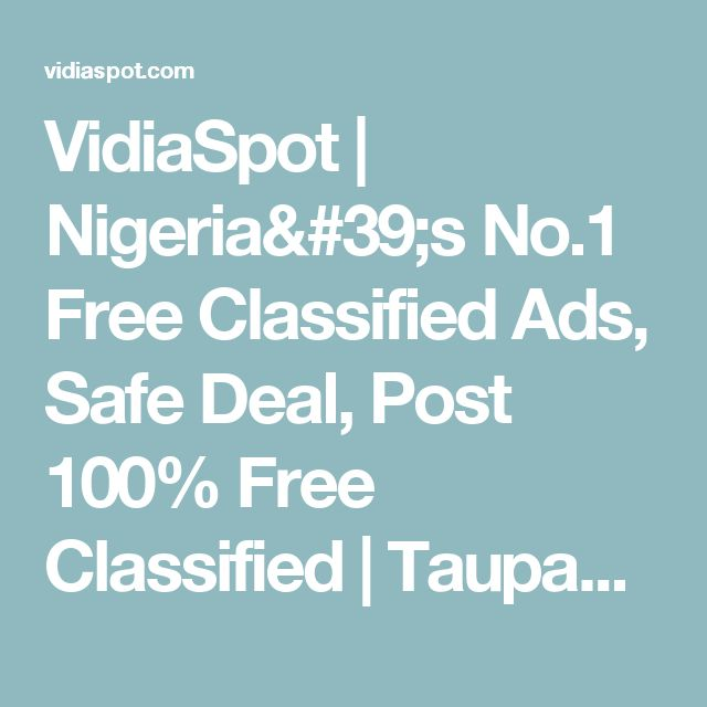 VidiaSpot | Nigeria's No.1 Free Classified Ads, Safe Deal, Post 100% Free Classified        | Taupaulin pond for sale