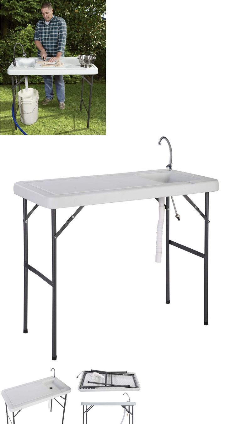 Coleman fish cleaning table re camping sink - Fillet Tables And Cutting Boards 161823 Portable Sink Table Fishing Camping Picnic Outdoor Cooking Cleaning