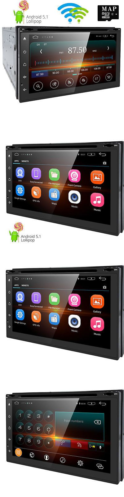 Vehicle Electronics And GPS: 72Din Android 5.1 Car Stereo Quad Core 3G Wifi Gps Nav Dvd Player Auto Radio BUY IT NOW ONLY: $99.99