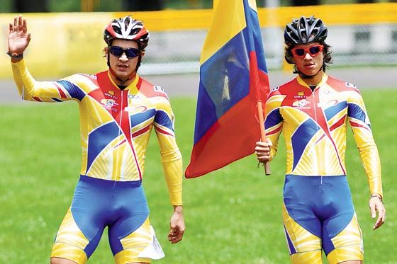 Juegos Mundiales 2013 Colombia consiguió oro y plata en patinaje Pedro Causil y Andrés Felipe Muñoz consiguieron el 1-2 en la final de contrarreloj.