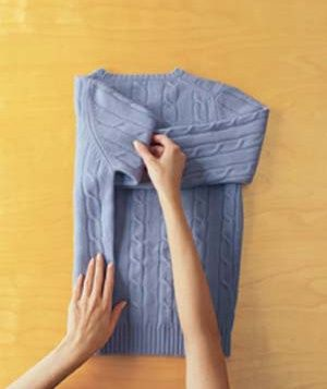 How to Fold a Sweater #laundry