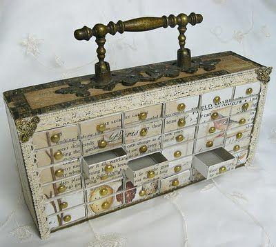 Match-mini caja de almacenamiento - a partir de una caja de cigarros