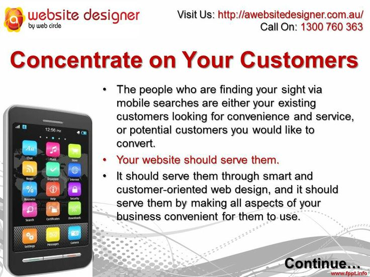 Concentrate on Your Customers