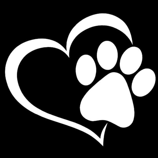 1e44bab3efd0 Cat Paw Print Window Decal Sticker   Decals   Cat paw print, Window ...