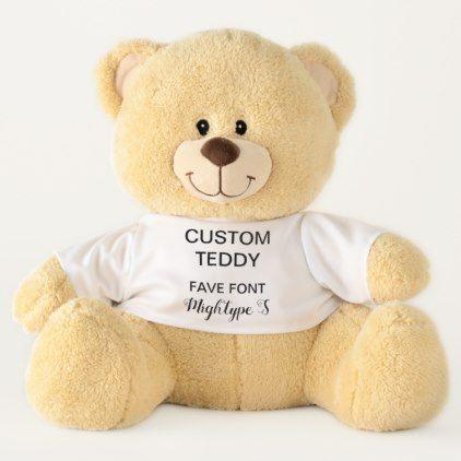 "Custom Giant 21"" Teddy Bear Template MIGHTYPE SCR. - diy cyo personalize design idea new special custom"