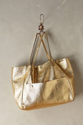 Hayden Harnett Theia Textured Tote. All gold all the time. #anthrofave