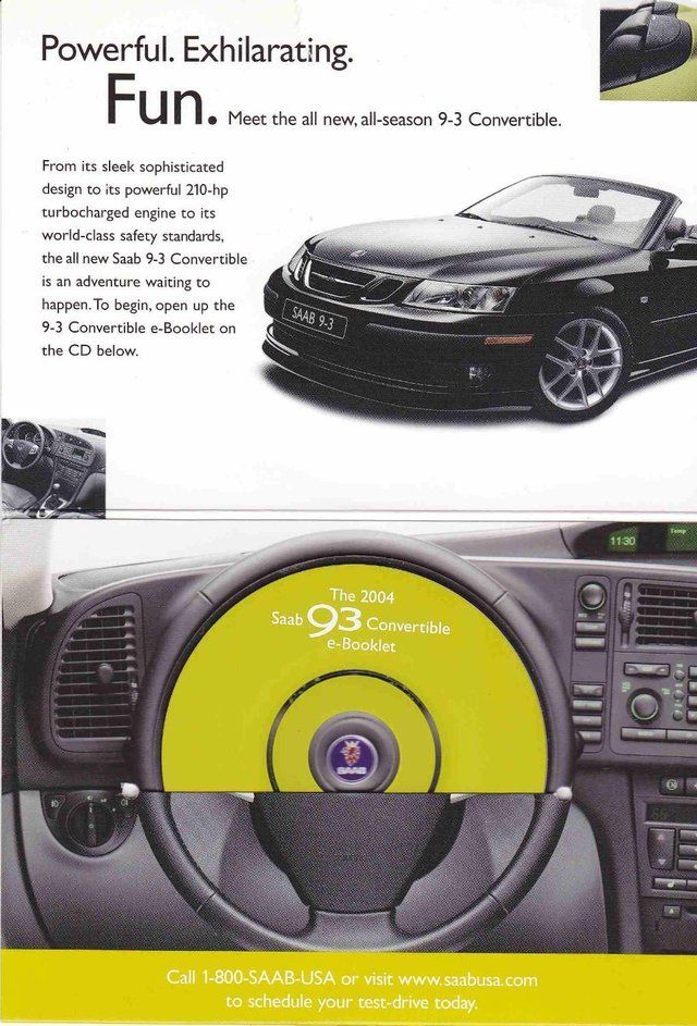 292 best automobiles saab images on pinterest automobile autos the all new 2004 saab 9 3 convertible ad fandeluxe Gallery