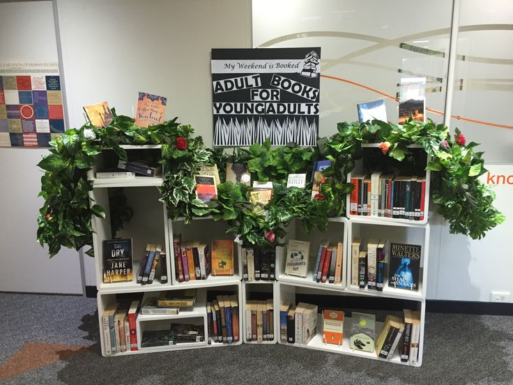 Adult Books for Young Adults display 2016
