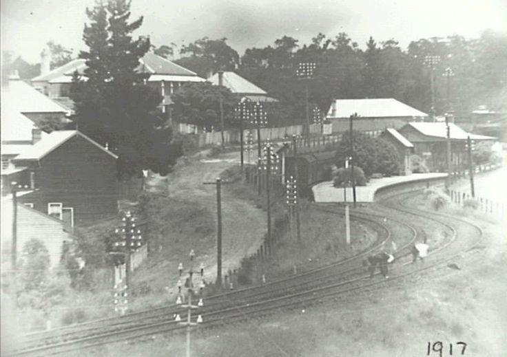 Hazelbrook Railway Station PROVENANCE	:Dr. Keith King DATE: 1917