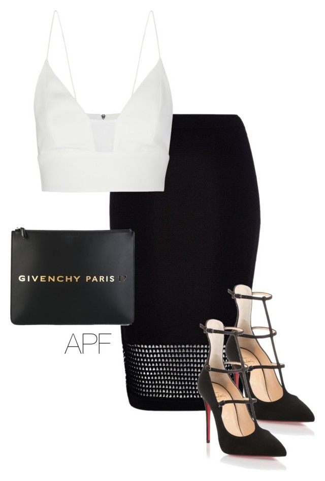 quot Monochrome quot  by apf style on Polyvore featuring River Island  Narciso Rodriguez  Givenchy and Christian Louboutin