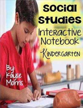 Social Studies Interactive Notebook Kindergarten https://www.teacherspayteachers.com/Product/Social-Studies-Interactive-Notebook-Kindergarten-1720371