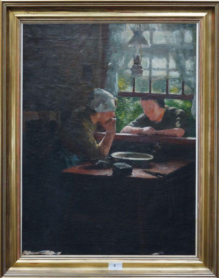 Ferdinand Hart Nibbrig (1866-1915), l.b. gesigneerd, olieverf op doek, buurpraatje