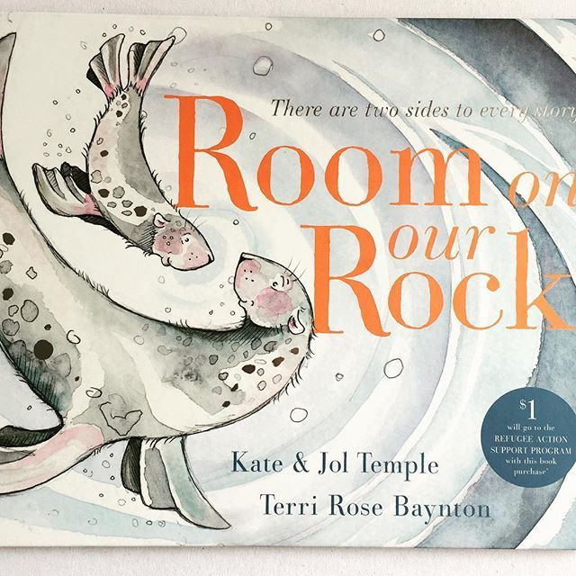 Room on our Rock by Kate and Jol Temple and Terri Rose Baynton What the publisher says: Two seals are perched on a rock. When others need shelter do they share it? Room on Our Rock celebrates the truth that there are two sides to every story.  This clever picture book has one story that can be read two different ways. When read from front to back the seals believe there is definitely no room on their rock for others. But when the book is read from back to front the seals welcome others to…