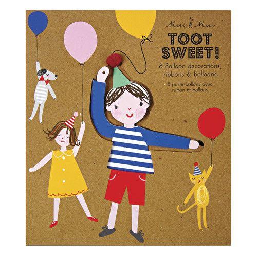 Meri Meri Toot Sweet Children Balloon Holders Decor