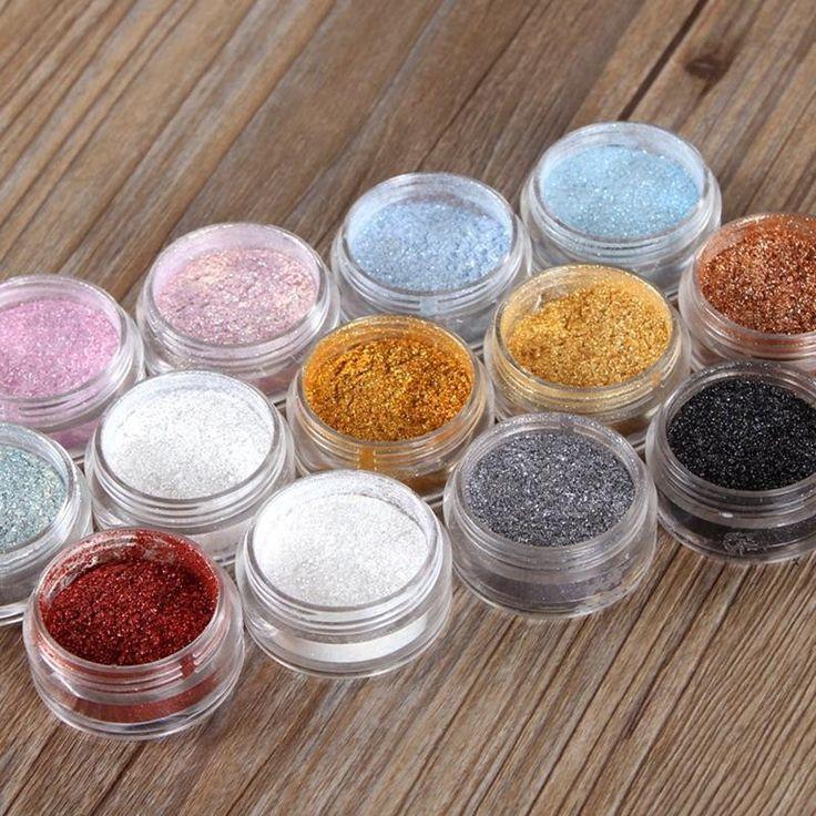 12 Farben Lidschatten-Pulver Super Helle Perle Glänzende Helle Glitzerpuder Rosa Diamant Make-Up M02529