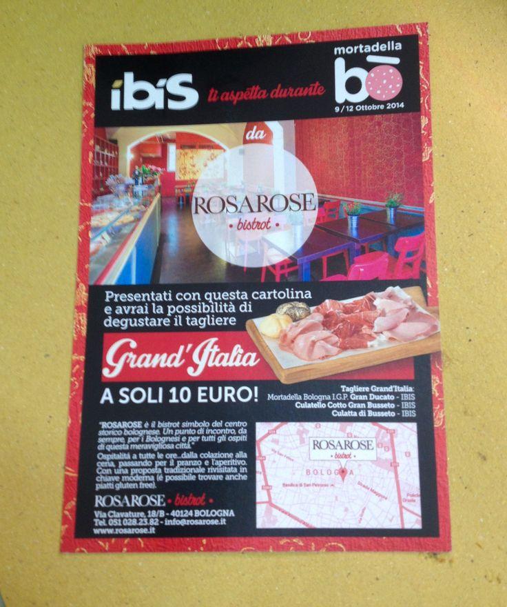 RosaRosae con Ibis salumi al Mortadella Bò: assaggia il tagliere Mortadella Gran Ducato IGP, Culatta di Busseto, Culatello cotto