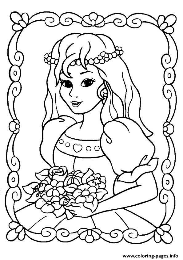 print the beautiful princess coloring pages - Princess Color Pages