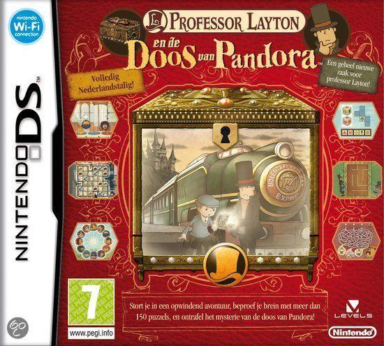 Professor Layton: En de Doos van Pandora Het zeer spannende verhaal van Professor Layton en de Doos van Pandora voert spelers van puzzel naar puzzel. meer dan 150 nieuwe breinbrekers, raadsels en logica-puzzels om op te lossen. In tegenstelling tot de voorganger is het spel in z'n geheel naar het Nederlands vertaald. Zo kan elke speler het verhaal en de puzzels zonder moeite begrijpen. Naast de teksten in beeld zijn ook de tekenfilmpjes en gesproken dialogen geheel in het Nederlands.