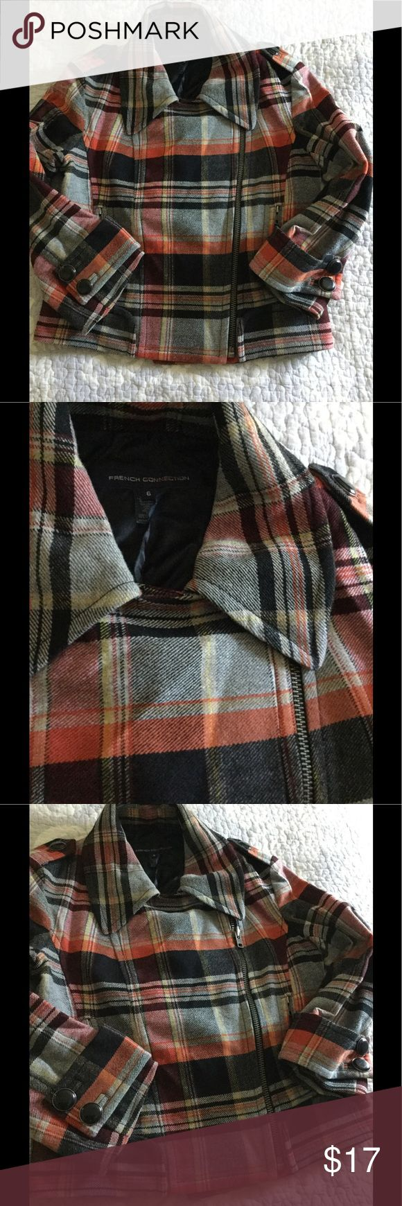 French Connection Plaid Wool Jacket French Connection Wool Plaid coat hardly worn at all. Great condition French Connection Jackets & Coats Blazers