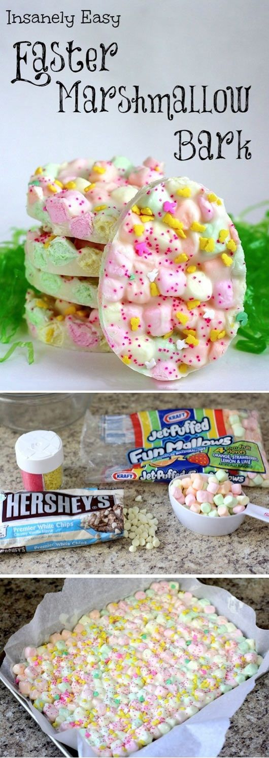 Awesome Easter Marshmallow Bark