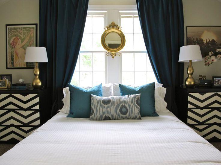 Headboard Ideas Window Behind Bed: Best 25+ Curtains behind bed ideas on Pinterest   Window behind    ,