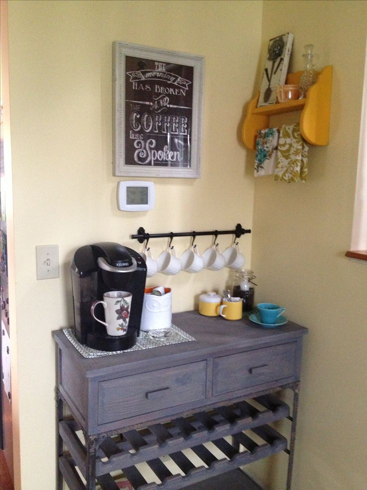 My new coffee bar open for business my diy for Coffee bar station