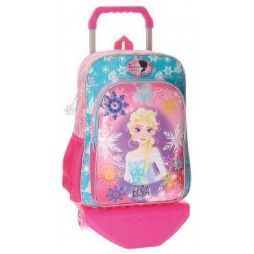 Mochila con carro Frozen de Elsa, el carro se puede desmontar si se quiere, es una mochila muy amplia, y ahora lleva de regalo un Mp3