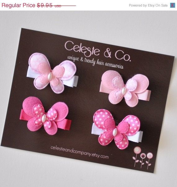 SUMMER SALE Baby Hair Clips  Toddler Hair by CelesteandCompany, $7.46