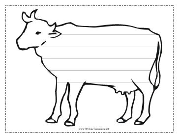 Peaceful image pertaining to printable cow template