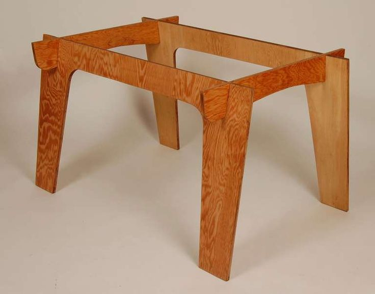 Constructivist Plywood Table | Plywood Table, Plywood And Dining Room Table