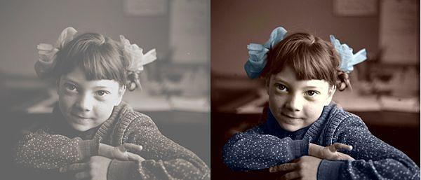 Пример продукции - реставрация и раскрашивание фотографий
